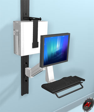 Wall Mount Combo - LCD & Keyboard + CPU