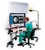 PACS Radiology Workstation with 4 monitors